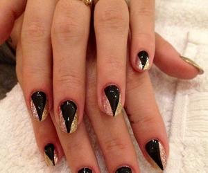 glitter, gold, and nail art image