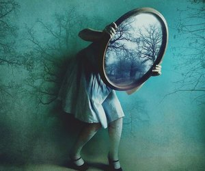 mirror, alice, and wonderland image