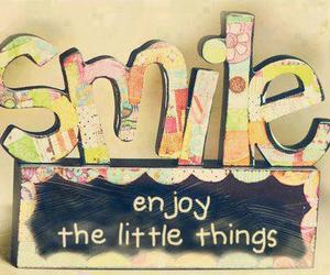 smile, enjoy, and quote image