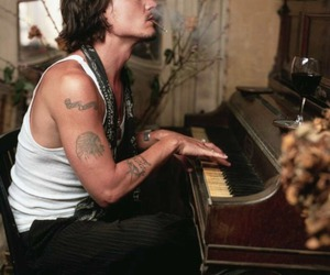 Hot, johnny depp, and wine image