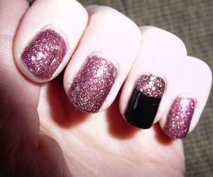 black, coulor, and glitter image