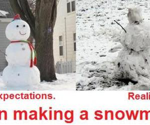 funny, lol, and snowman image