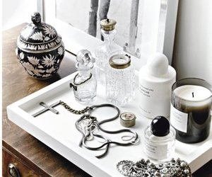 candle, jewelry, and perfume image