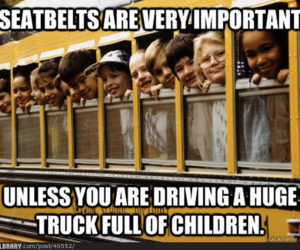 funny, children, and seatbelts image
