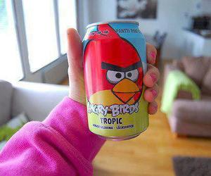 angry birds, drink, and pink image