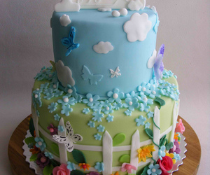 christening cake, cake, and kids cakes image