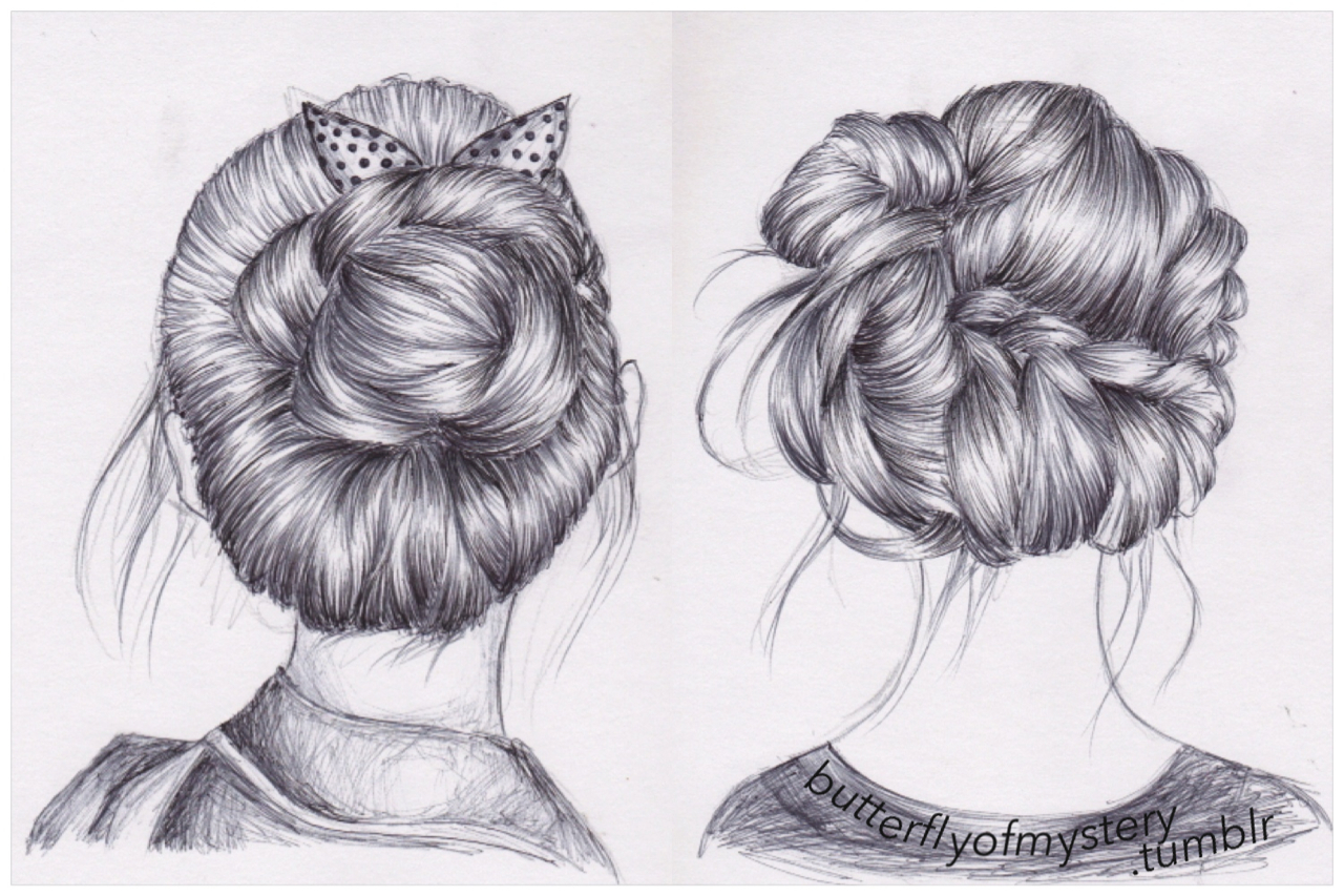 Butterflyofmystery Discovered By Apalapucia On We Heart It - Hairstyle drawing tumblr
