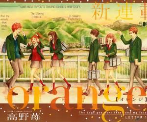 anime, orange, and shojo image