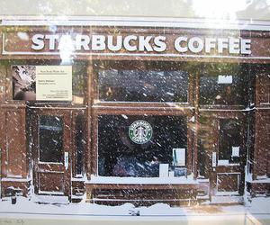 snow, starbucks, and add a tag image