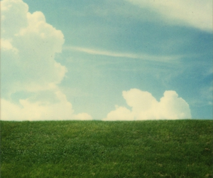 blue, cloud, and grass image