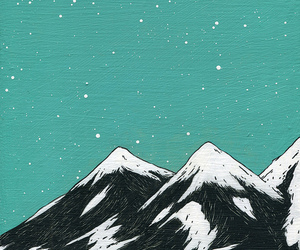 mountains, art, and sky image