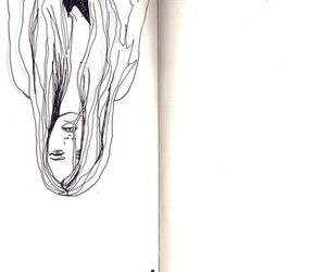 drawing, girl, and illustration image