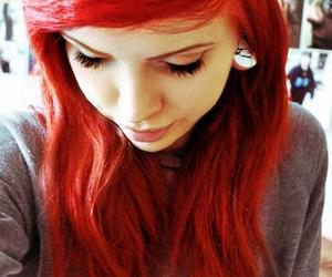 red hair, hair, and Plugs image