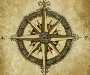 compass, tattoo, and love image