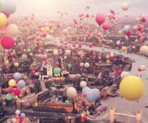 balloons, city, and london image