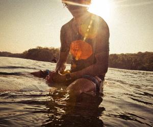 boy, surf, and sun image