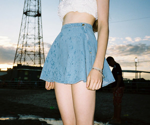 girl, skirt, and vintage image
