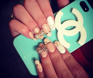 nails, chanel, and iphone image