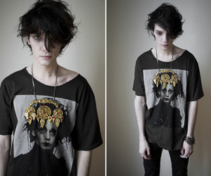 boy, black, and edward scissorhands image