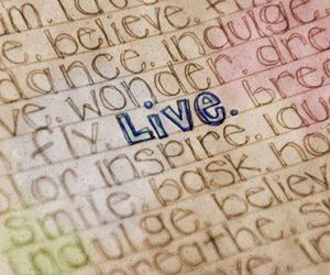 live, life, and words image