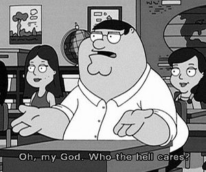 family guy, black and white, and school image