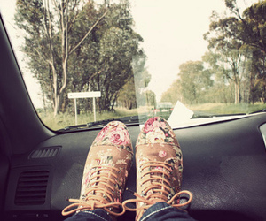 shoes, car, and floral image