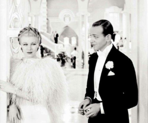 top hat, fred astaire, and ginger rogers image