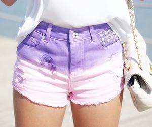 fashion, shorts, and purple image