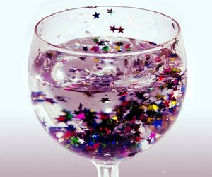 glitter, stars, and drink image