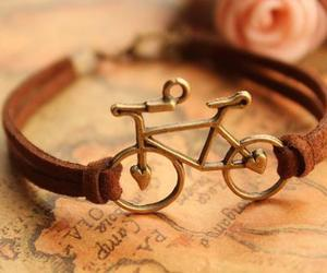 bracelet, bike, and bicycle image