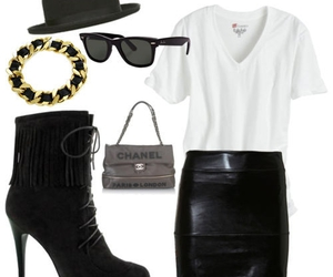 boy, leather, and outfit image