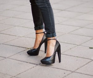 heels, shoes, and street style image