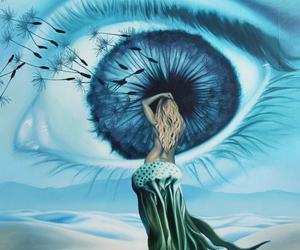 eye, painting, and surrealism image