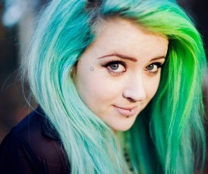 colored hair and alternative girl image