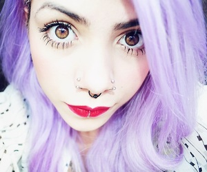 alternative, big eyes, and colored hair image