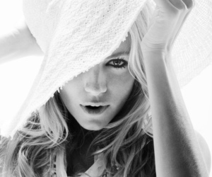 hat, black and white, and sienna miller image