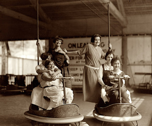 bumper cars and vintage image