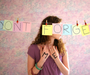 girl, quote, and forget image
