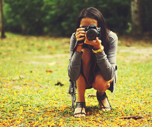 canon, girl, and photography image