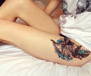 beautiful, girl, and ink image