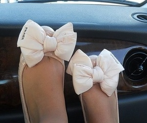 bow, Prada, and shoes image