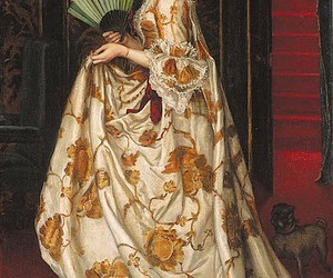 baroque, dress, and painting image