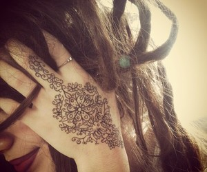 tattoo, dreads, and hippie image
