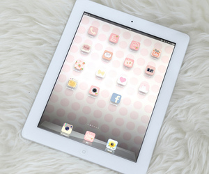 ipad, pink, and apple image