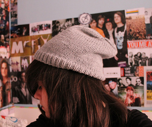 beanie, fall out boy, and girl image
