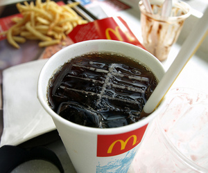 drink, food, and mc donalds image