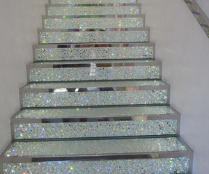 stairs, glitter, and diamond image