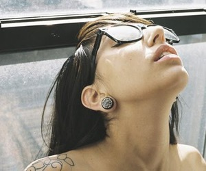 girl, tattoo, and pircing image