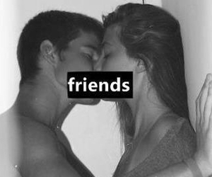 friends, kiss, and photography image