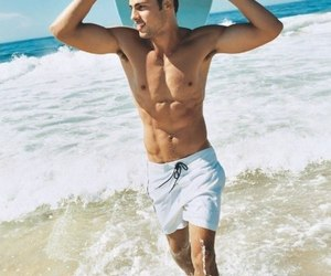 boy, sexy, and beach image